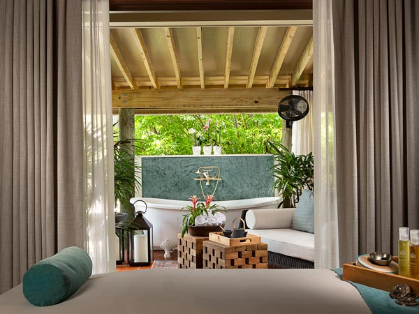 The Little Palm Island spa.